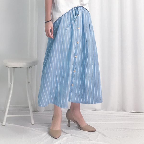 簡單淡雅條紋裙