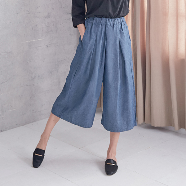 亮麗素雅寬褲