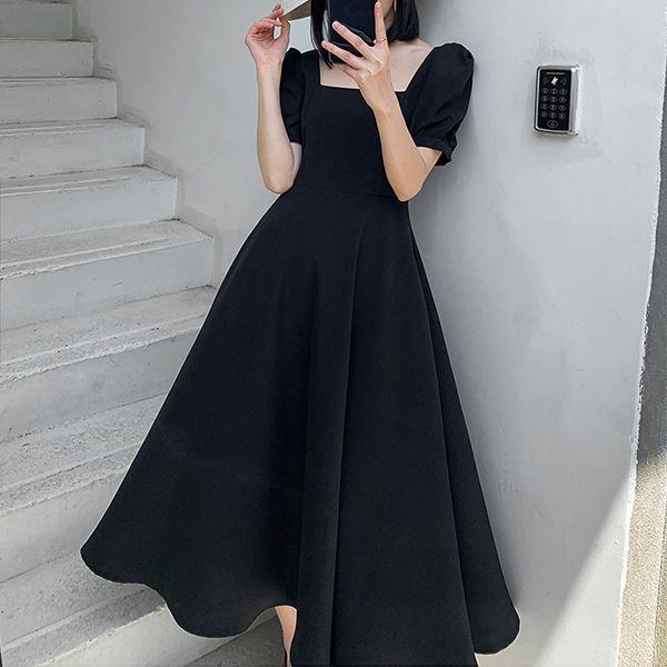 【楊晨熙著用款】方領短袖氣質洋裝