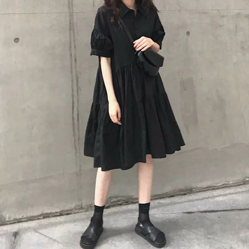 洋氣赫本小黑裙