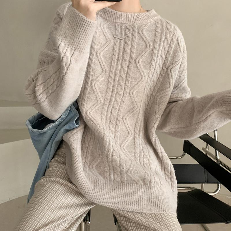 拐麻寬鬆長版針織上衣