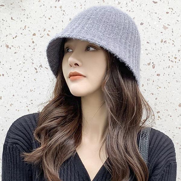 甜美兔毛毛帽